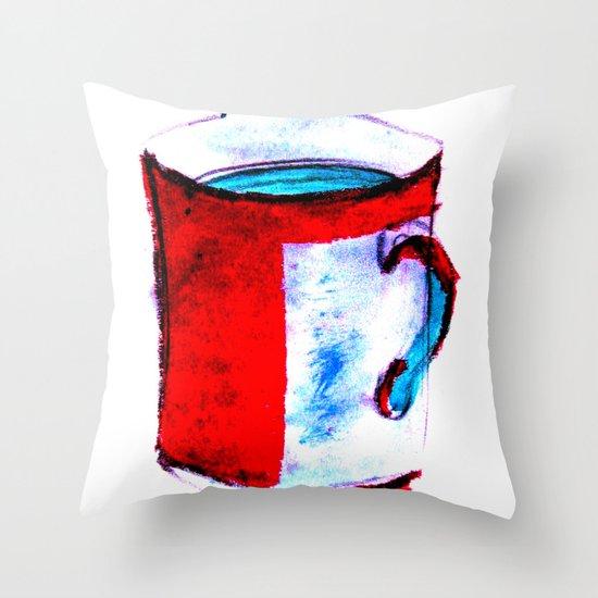 big coffee cup Throw Pillow