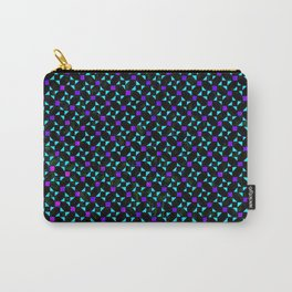 Purple and Light Blue Stars Carry-All Pouch