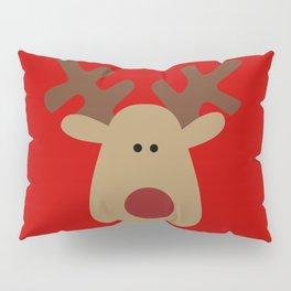 Christmas Reindeer-Red Pillow Sham