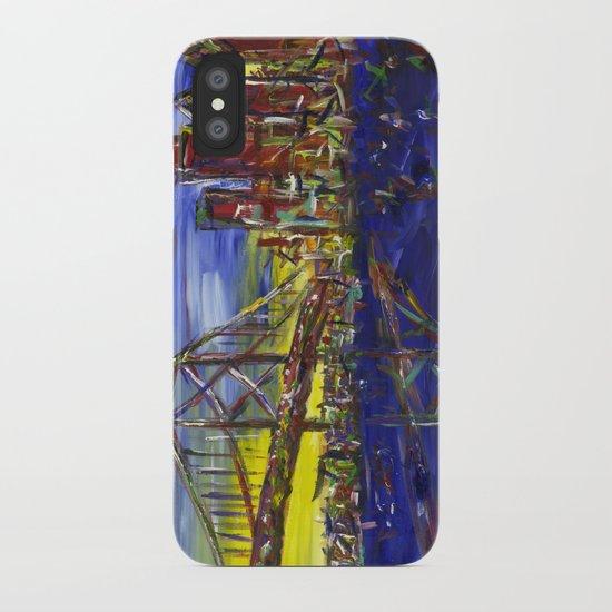 Philly Skyline with Ben Franklin Bridge iPhone Case