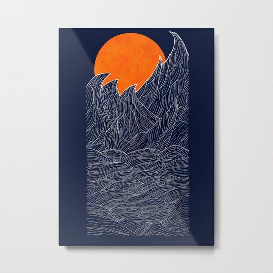 The White Waves Metal Print