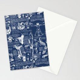 Da Vinci's Anatomy Sketchbook // Regal Blue Stationery Cards