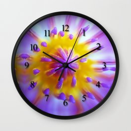 Water Lily's core Wall Clock