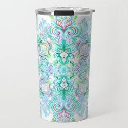 Painted Rainbow Doodles Travel Mug