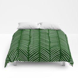 Forest Green Herringbone Comforters