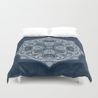 blueprint Duvet Covers featuring Natural Blueprint by DebS Digs Photo Art