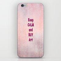 keep calm iPhone & iPod Skins featuring Keep Calm by Tina Vaughn