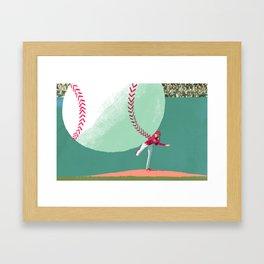 Art of Pitching Framed Art Print