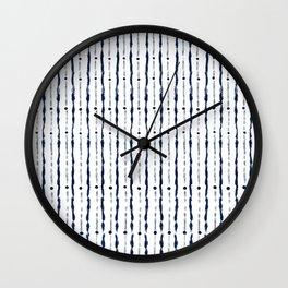 Stripes Indigo Wall Clock