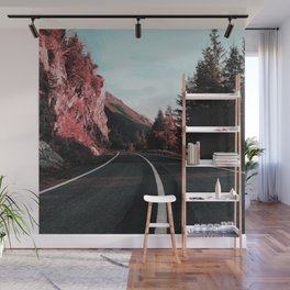 Road Red Mountain Wall Mural