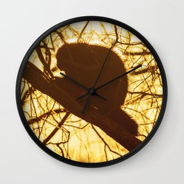 Silhouetted Quills Wall Clock