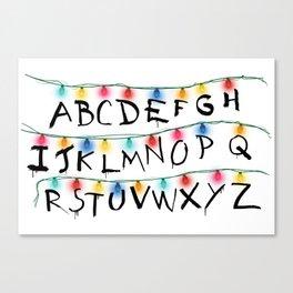 Stranger Things Alphabet Lights Canvas Print