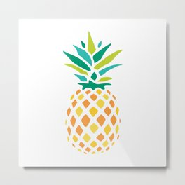 Summer Pineapple Metal Print