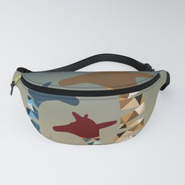 Abstract Colored Giraffe Family Fanny Pack