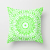 lime green Throw Pillows featuring Lime by SimplyChic