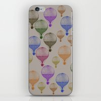 hot air balloons iPhone & iPod Skins featuring Colorful Hot Air Balloons by Zen and Chic