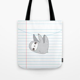 Sloth notebook page Tote Bag
