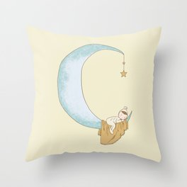 Moon Sleeper 1 Throw Pillow