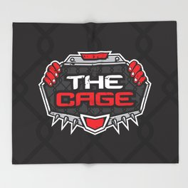 The Cage Fight Illustration Throw Blanket