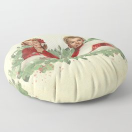 Sisters - A Merry White Christmas Floor Pillow