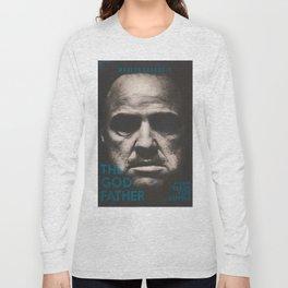 The Godfather, minimalist movie poster, Marlon Brando, Al Pacino, Francis Ford Coppola gangster film Long Sleeve T-shirt