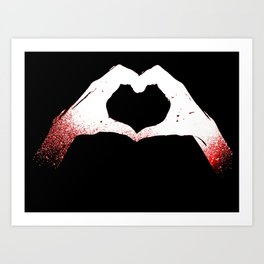 Heart in Hands Art Print
