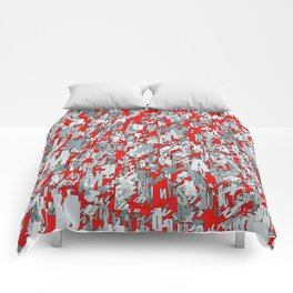 The letter matrix RED Comforters