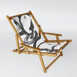 Interlock black and white paint swirls Sling Chair