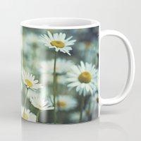 daisies Mugs featuring daisies by Bonnie Jakobsen-Martin