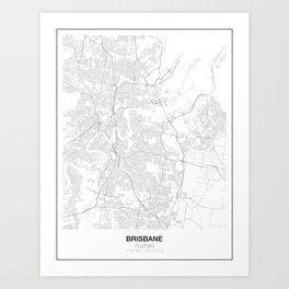 Brisbane, Australia Minimalist Map Art Print