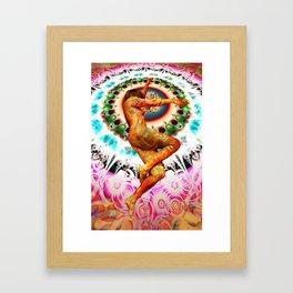 FLOATER MANDALA P Framed Art Print