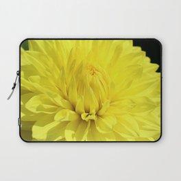 Glowing Yellow Dahlia Laptop Sleeve