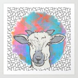 Sheep Spot Art Print