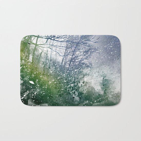 Acrylic Forest Blizzard Bath Mat