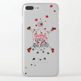 Illuminae - Death Like Roses Clear iPhone Case