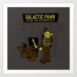 Galactic Pawn: We Buy Your Used or Broken Gold Art Print