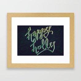 Happy Holly Framed Art Print