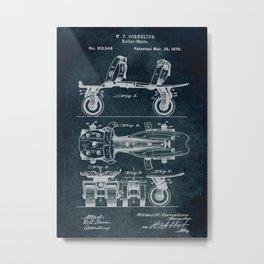 1879 - Roller-Skate patent art Metal Print