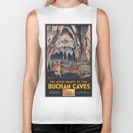Vintage poster - Buchnan Caves Biker Tank