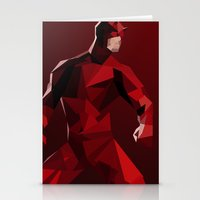 daredevil Stationery Cards featuring Daredevil by tophatmonster
