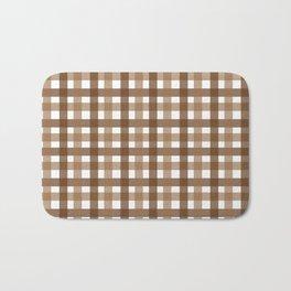 Brown Picnic Cloth Pattern Bath Mat