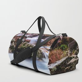 Deep in the woods there was a magic river Duffle Bag