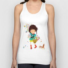 Emma picking flowers Unisex Tank Top