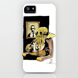 Cthulhu Taking Tea iPhone Case