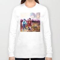 dmmd Long Sleeve T-shirts featuring dmmd beach by Mottinthepot