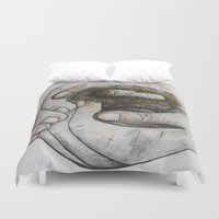 gift card Duvet Covers featuring God's Greatest Gift by EloiseArt