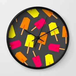 Ice Lollies 02 Wall Clock