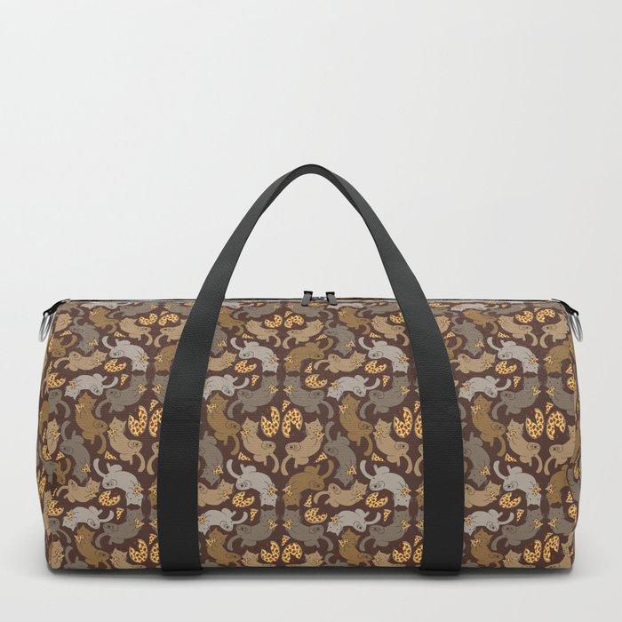 Pizza Cats Duffle Bag