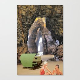 sous les rochers Canvas Print