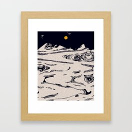 Hearts Packed In Snow 5 Framed Art Print
